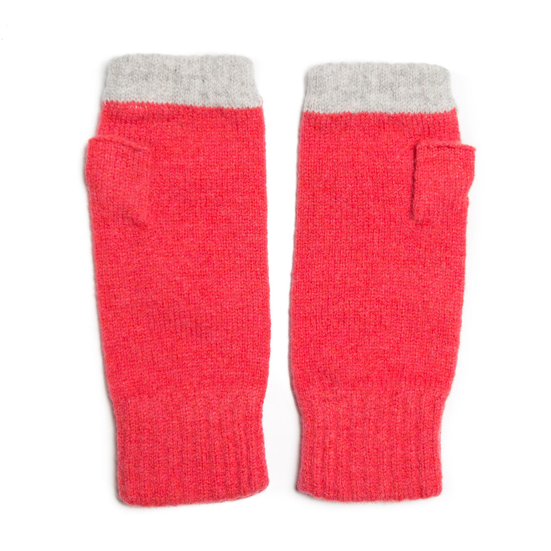 FINGERLESS GLOVE CORAL SILVER - GREEN THOMAS