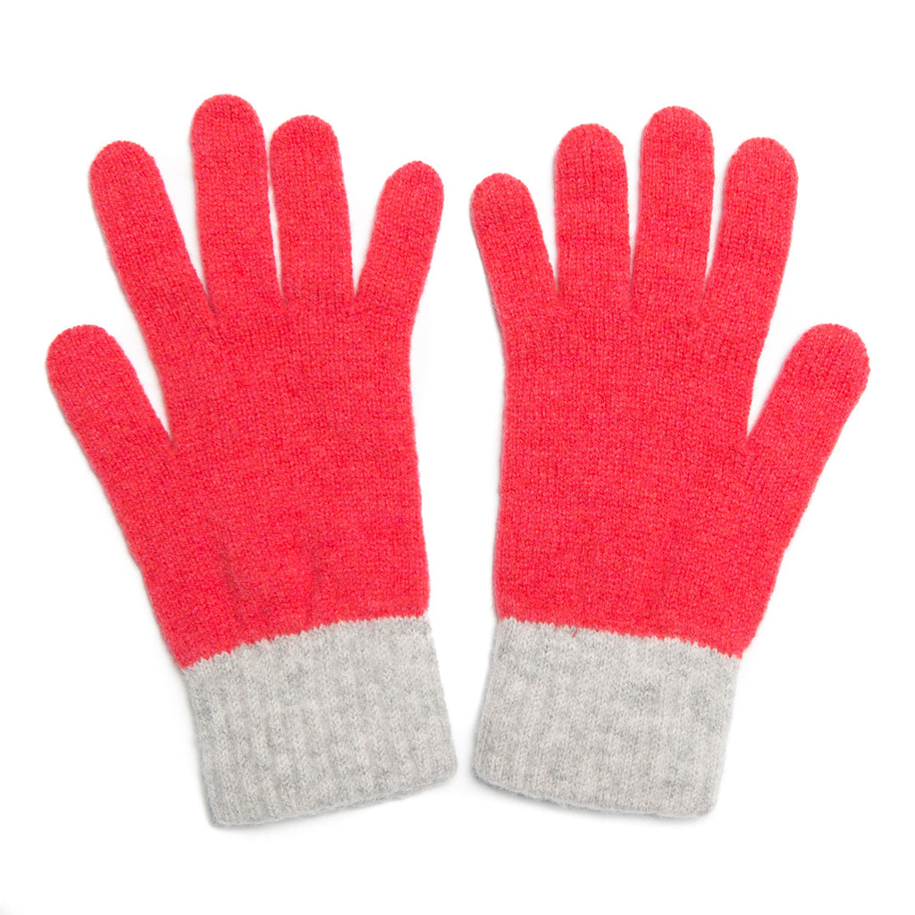 GLOVE CORAL SILVER - GREEN THOMAS