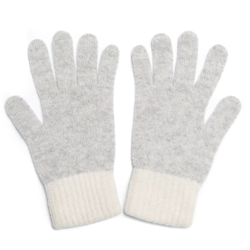 GLOVE SILVER WHITE - GREEN THOMAS