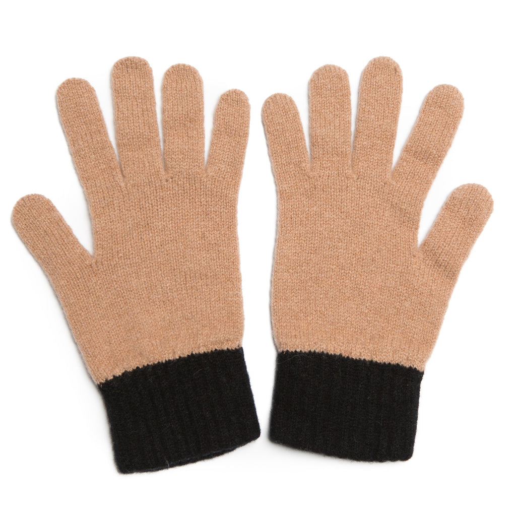 GLOVE CAMEL BLACK - GREEN THOMAS
