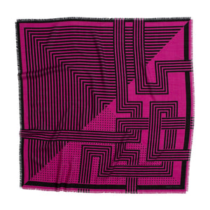 DECO WOOL SILK SQUARE ELECTRIC PINK - GREEN THOMAS