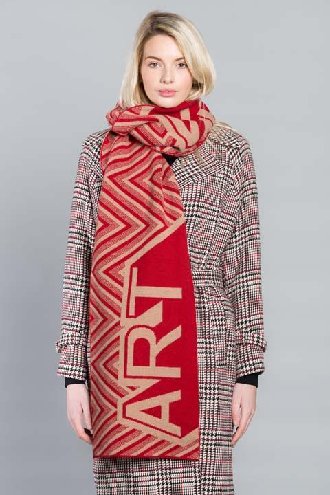 ART BLANKET SCARF CAMEL RED - GREEN THOMAS