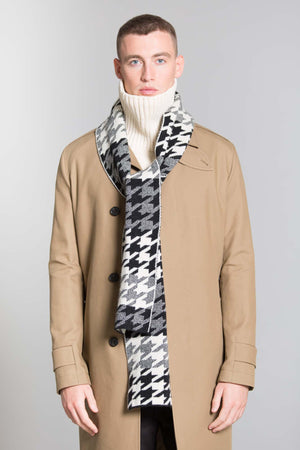 HOUNDSTOOTH SCARF BLACK WHITE