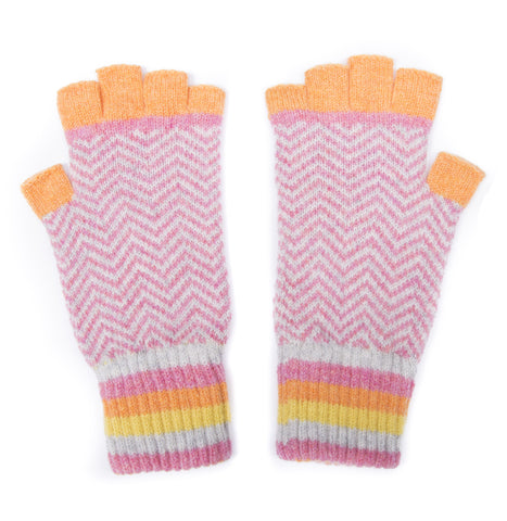 made in scotland fingerless gloves bright sorbet luxury