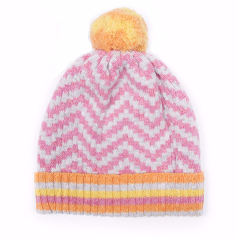 made in scotland bobble hat pom pom merino luxury