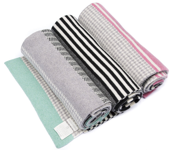 HOUNDSTOOTH BLANKET SCARF MINT