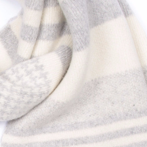 MONOTONE BLANKET SCARF GREY & WHITE