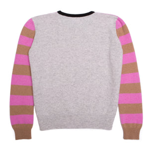 STRIPE JUMPER CAMEL & PINK - GREEN THOMAS