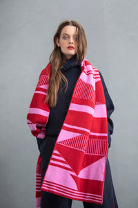 SEMAPHORE SCARF PINK & RED - GREEN THOMAS