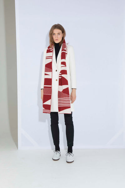 SEMAPHORE SCARF RED & WHITE