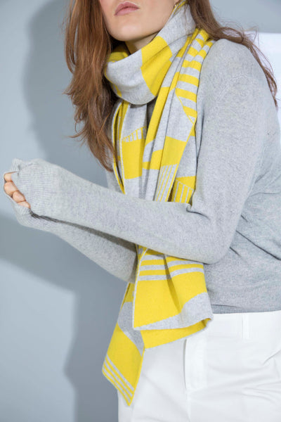 SEMIPHORE SCARF YELLOW & GREY
