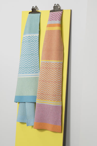 CHEVRON BLANKET SCARF SORBET MIX