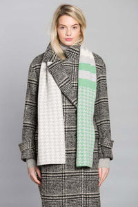 PIXEL SCARF MINT SILVER - GREEN THOMAS