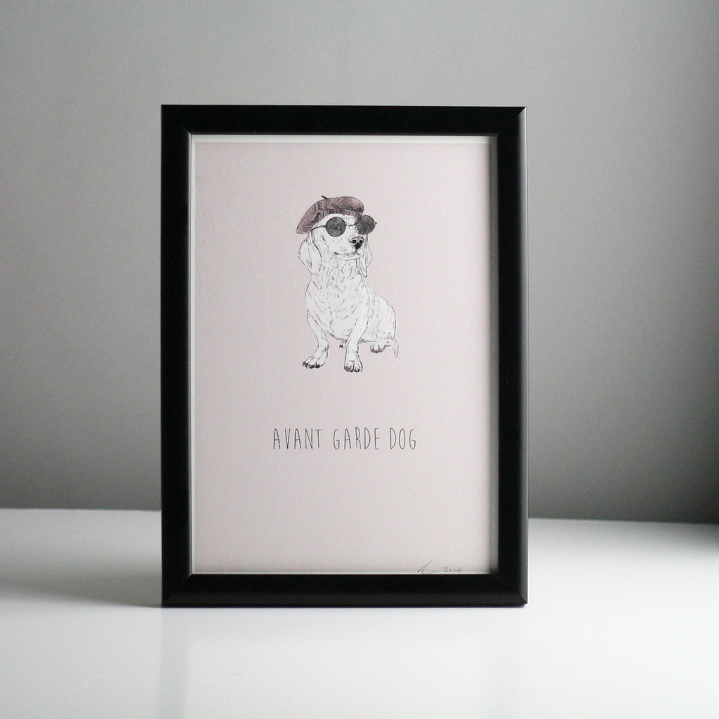 Avant Garde Dog, A5 Print by Ben Rothery