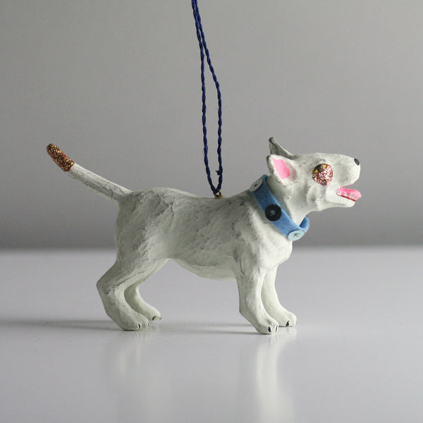 Cody Foster Bull Terrier Dog Christmas tree decoration