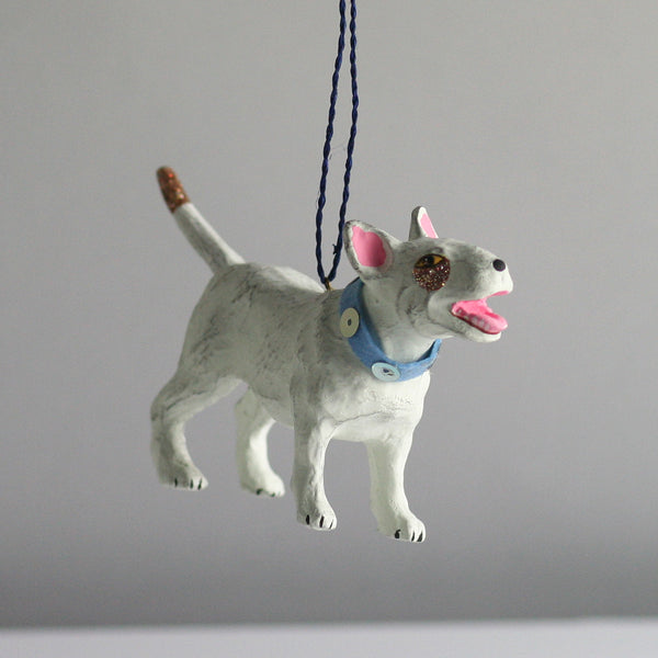 Bull Terrier Dog Christmas tree decoration