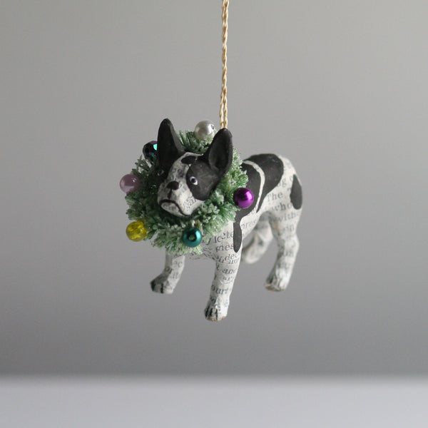 French Bulldog Dog Christmas Tree Decoration