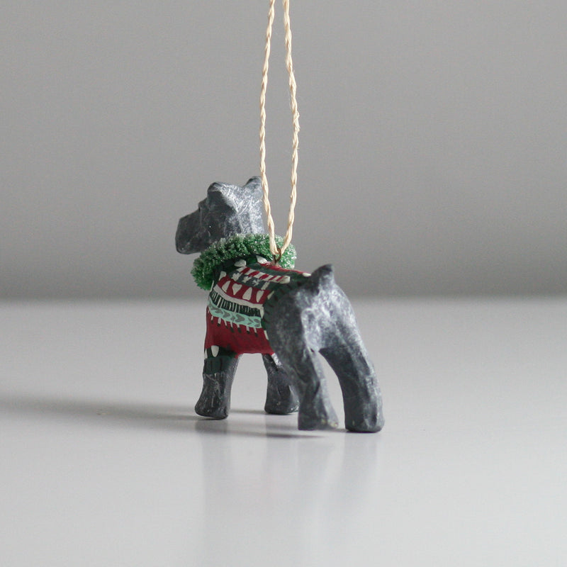 Miniature Schnauzer Dog Christmas tree decoration