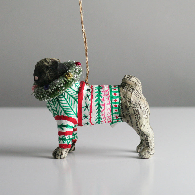 Pug Dog Christmas Tree decoration
