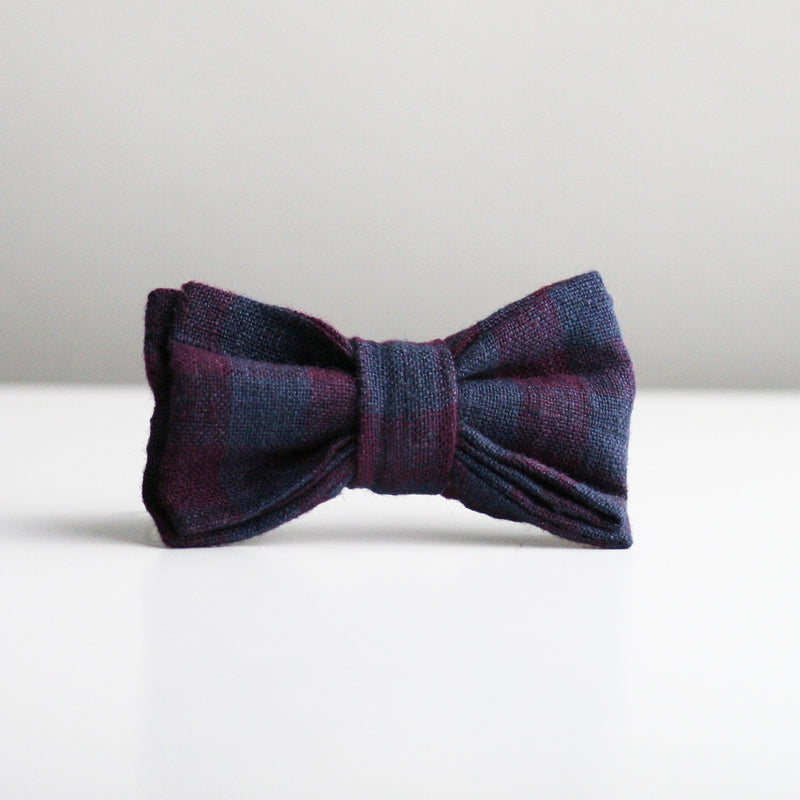 Gaston Bow Tie - Wine & Navy