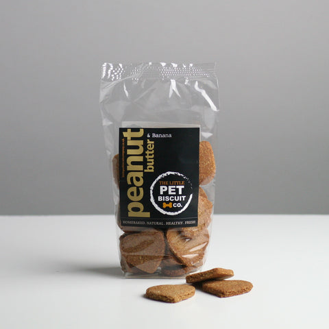 The Little Pet Biscuit Company - Peanut Butter & Banana Dog Biscuits
