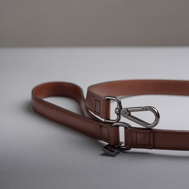 Frank Dog Lead - Cognac