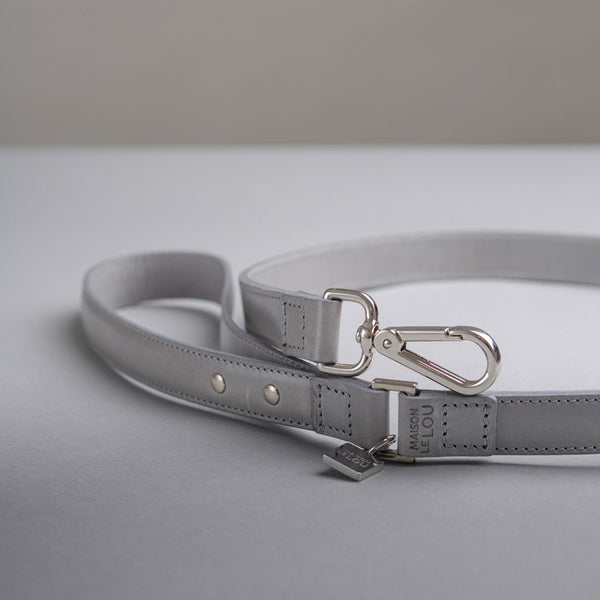 Florence Dog Lead - Soft Grey