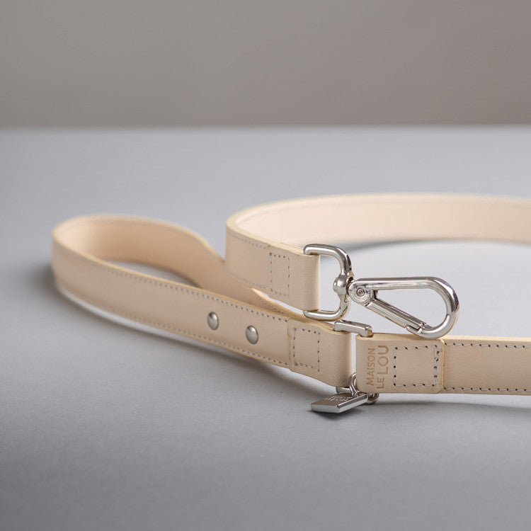 Florence Dog Lead - Vanilla