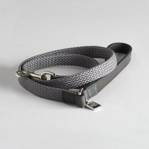 Maison Le Lou Luxury designer dog lead - Brady Grey