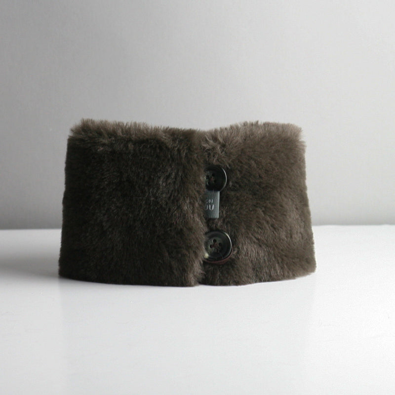 Snookie - Faux Fur Snood Neck Warmer - Chocolate