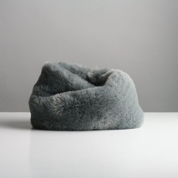 Snookie - Faux Fur Snood Neck Warmer - Dark Grey