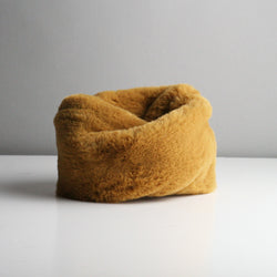 Snookie - Faux Fur Snood Neck Warmer - Fudge