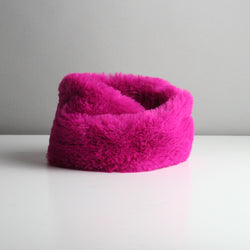 Snookie - Faux Fur Snood Neck Warmer - Hot Pink