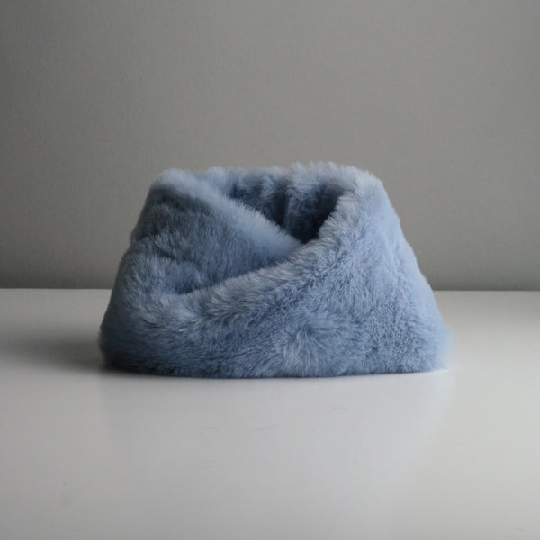 Snookie - Faux Fur Snood Neck Warmer - Sky Blue