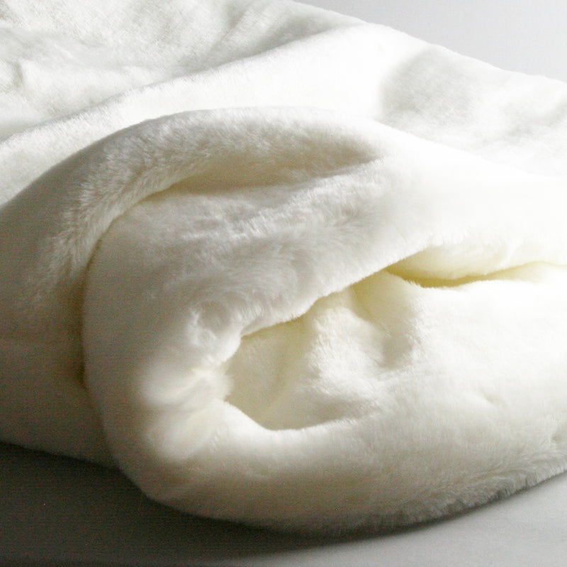 Pookie - Faux Fur Burrow Sleeping Bag - Winter White