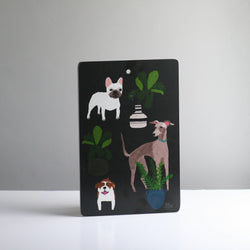 Dogs Chopping Board - Anne Bentley