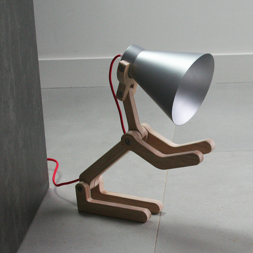 WAaf Dog Lamp - Light Oak