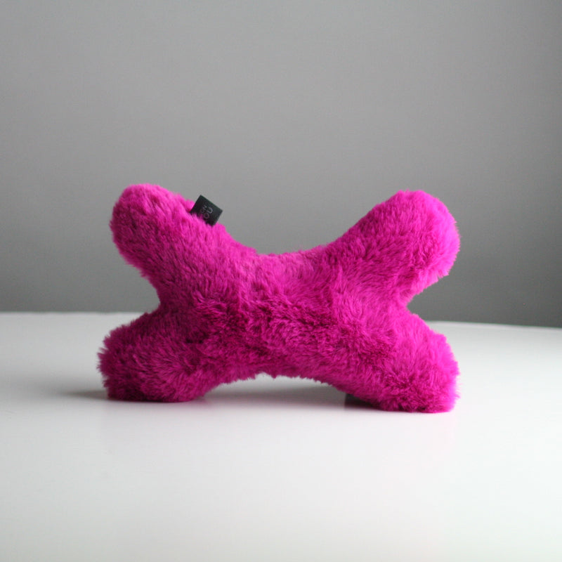 Bonie Plush Dog Toy - Hot Pink