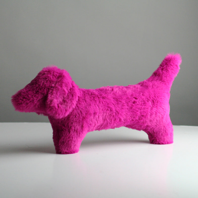Cecil Dog Toy - Hot Pink