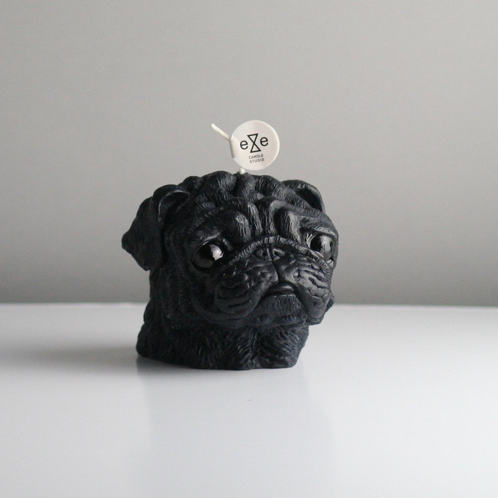 Maison Le Lou Eye Candle Studio black pug candle