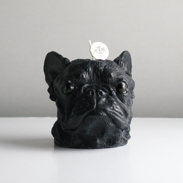 Maison Le Lou Eye Candle Studio black French Bulldog candle