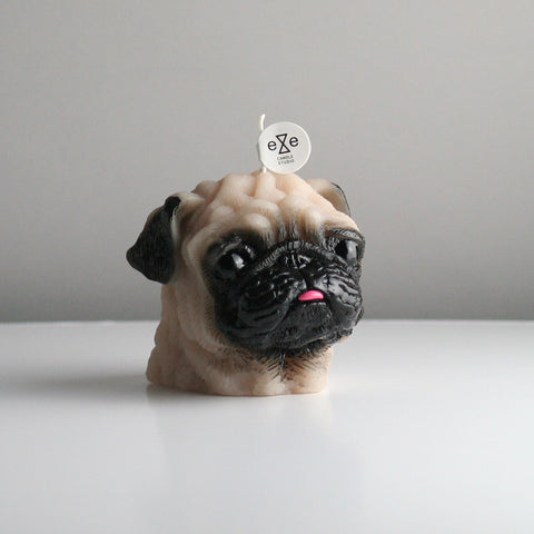 Maison Le Lou Eye Candle Studio Painted pug candle