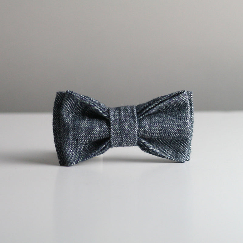 Jean Bow Tie - Denim Navy