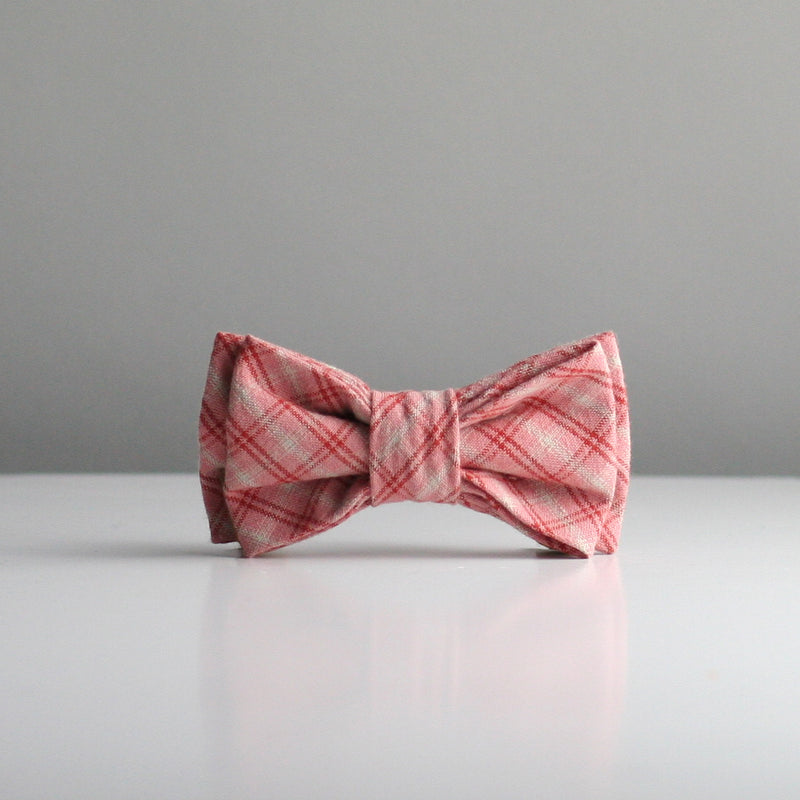 Jenny Bow Tie - Dusty Pink Check
