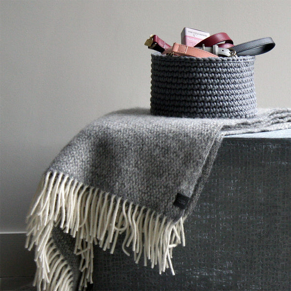 Laurie Throw - Soft Grey