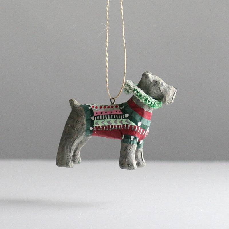 Miniature Schnauzer Christmas Decoration