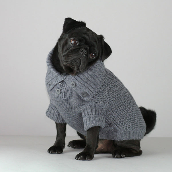 Moritz Dog Sweater  - Dark Grey