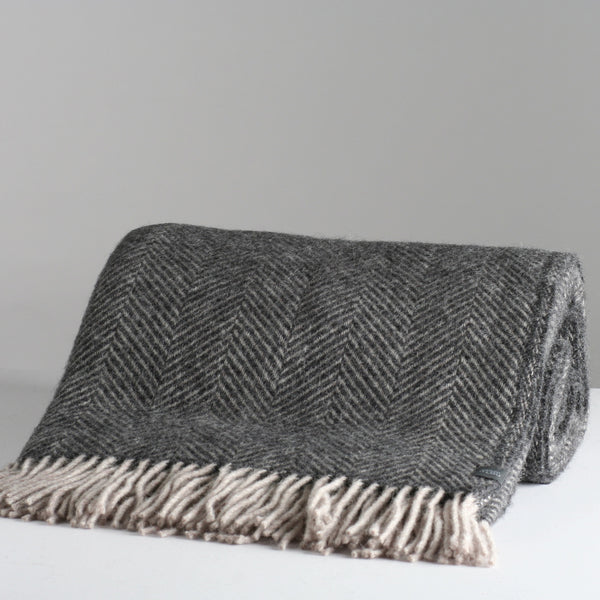 Remi Throw - Dark Grey