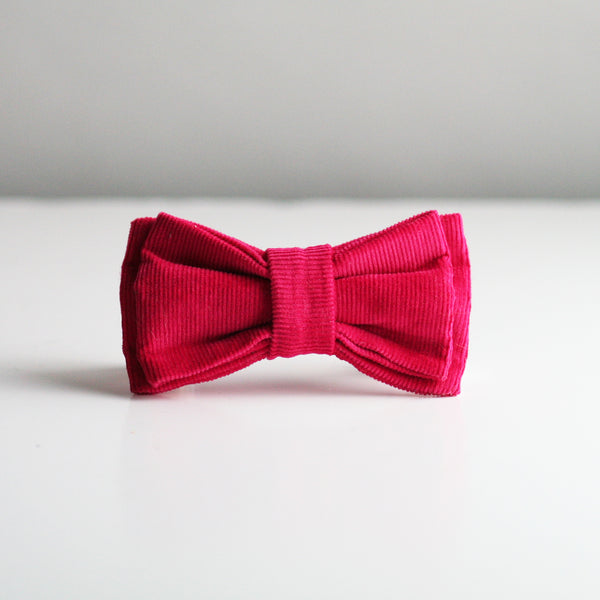 Rory Corduroy Bow Tie - Hot Pink