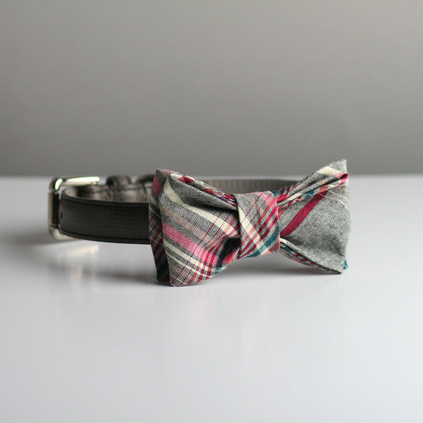Vernon Bow Tie - Grey Plaid